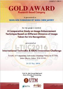 sample certificate for winners IDEAS2016