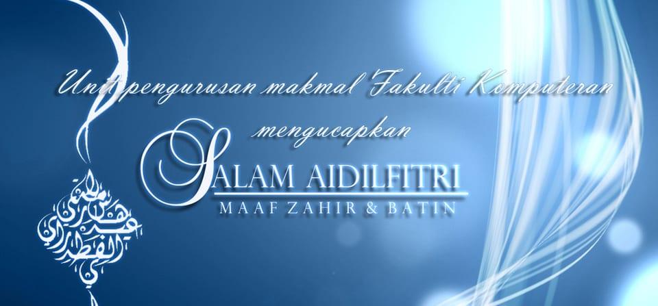 Selamat menyambut Hari Raya Aidilfitri
