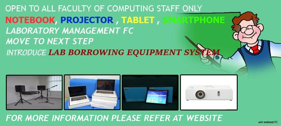 Lab Borrowing Equipment