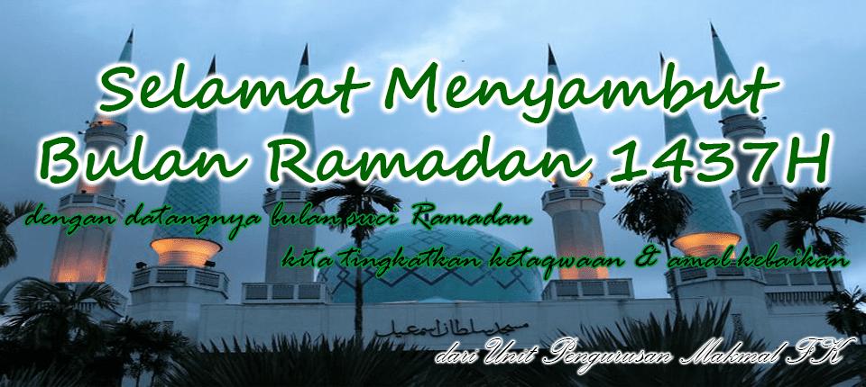 Selamat menunaikan ibadah puasa Ramadan 1437H