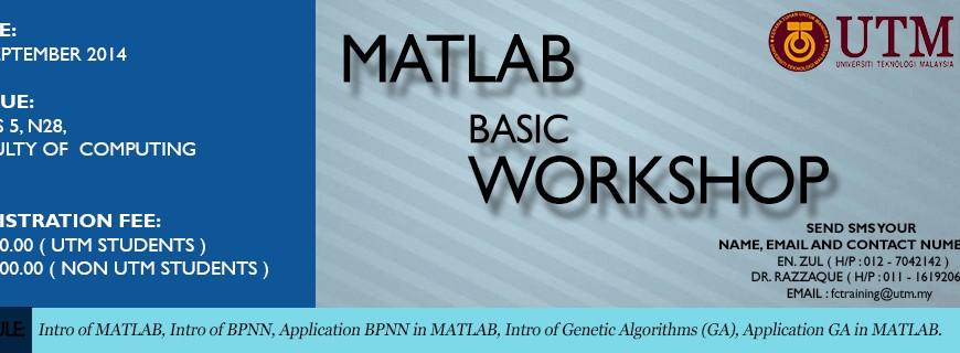 Matlab Basic Workshop