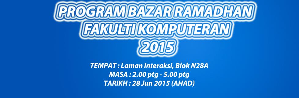 Program Bazar Ramadhan Fakulti Komputeran