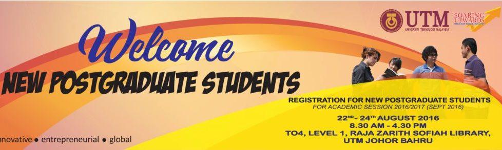 Welcome New Postgraduate Students