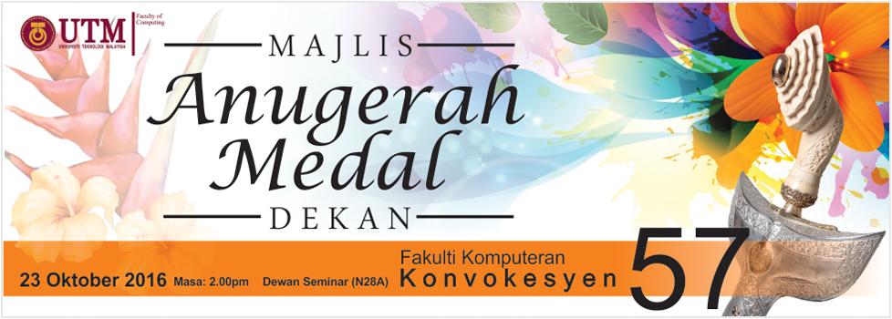 Majlis Anugerah Medal Dekan Bagi Konvokesyen Ke-57